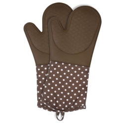 Wenko Oven Gloves Silicone Brown