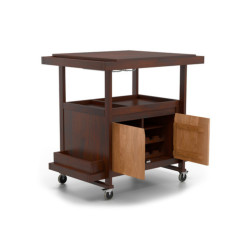 SNG  Solid Wood Bar On Wheels Cabinet India