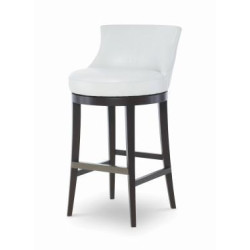 Century Furniture Leather Swivel Bar Stool PLR-3855B-PAPYRUS