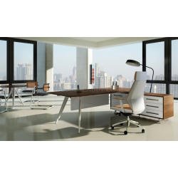 Boss's Cabin Kross 6.5 Ft. Office Table With Side Cabinet - Bctk-17 IMAGE