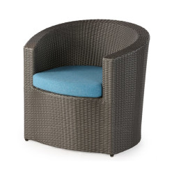 Abaca  Lucia Outdoor Tubchair In Iron Grey