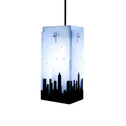 Vyom TRIANGULUM CITY SCAPE Table Lamp Image 1
