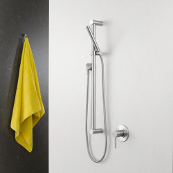 Caroma Titan Stainless Steel Rail Shower (Microphone Hand Piece)