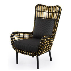 Abaca  Albini Occassional Chair Black & Yellow