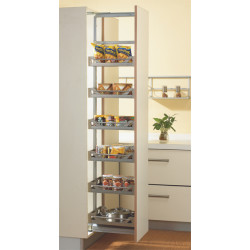 Inox Satin Silent Tall Unit with 6 Baskets