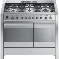 undefined A2-8 Cooker, 100x60 Cm, Opera, Stainless Steel, Gas Hobs,Energy Rating Ab