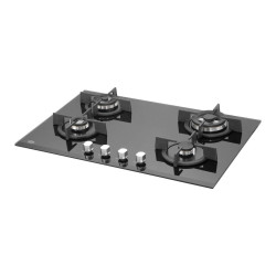 Kaff KHB78 BR 4 Black Tempered Glass Hob
