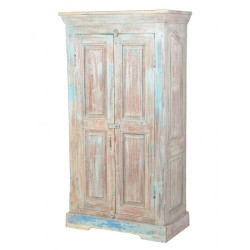 SNG Solid Wood Reclaimed Bluish Rustic Look Cupboard
