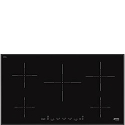 Smeg 90cm, Induction Hob, Black Glass Hob, 90 cm, Induction, Black