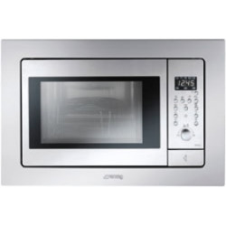 Smeg Microwave Oven, Antifingerprint Stainless Steel, Frame