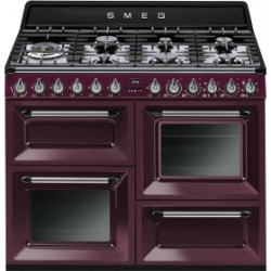 Smeg TR4110RW1 Cooker, 110x60 Cm, Victoria, Red Wine, Gas Hobs, Energy Rating A