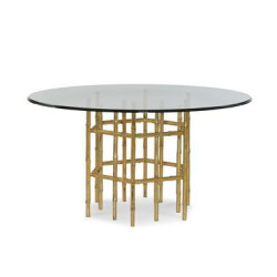 Century Furniture Jasper Dining Table With 54 Tempered Glass Top I2G-308