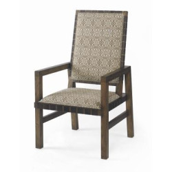 Century Furniture Sierra Dining Arm Chair With Leather Strap Trim 709-522