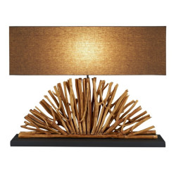 Jainsons Emporio Fan Wooden Table Lamp