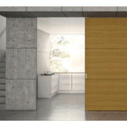 Olive Wooden Sliding Door (Front Clipping Bracket Sliding System)