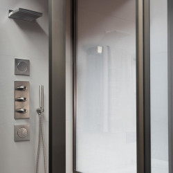 Armani Roca Built-In Thermostatic Shower Mixer With 5 Functions, Including Handshower And 2 Shower Jets.