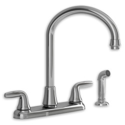 American Standard Jocelyn 2-Handle High-Arc Kitchen Faucet with Separate Side Spray