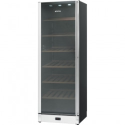 Smeg Wine Cooler In Gloss Black And St/Steel With Glass Door, Classic Aesthetics