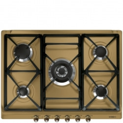 Smeg Hob, 70/75 cm, Gas, Cortina, Brass, Brass Finishing.