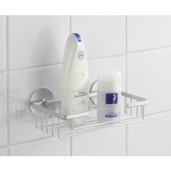 Wenko Turbo-Loc Wall Shelf Matt Aluminium