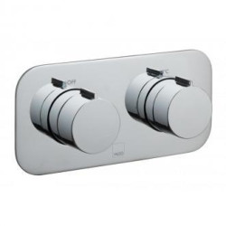 Vado 1 Outlet, 2 Handle Concealed Thermostatic Shower Valve, Horizontal