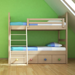 The Yellow Door Kelsey Natural Color Bunk Bed