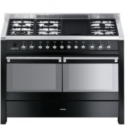 Smeg A4BL-8 Cooker, 120x60 Cm, Opera,Black, Gas Hobs, Energy Rating A