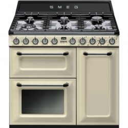 Smeg TR93P Cooker, 90x60 Cm, Victoria, Cream, Gas Hobs, Energy Rating Ab