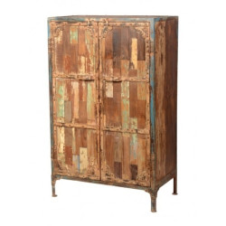 SNG Solid Wood High Legs Reclaimed Look Cupboard