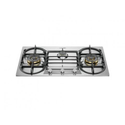 La Germania 90mm 3-Brass Burners, Double Wok Hob 90 3-Brass Burners, Double Wok Hob