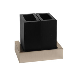 Gessi Wall-mounted Double Tumbler Holder Black tumbler holder rettangolo 4