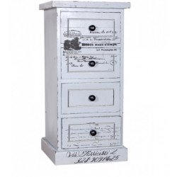 SNG Solid Wood White Printed Drawer Chest Without Legs India