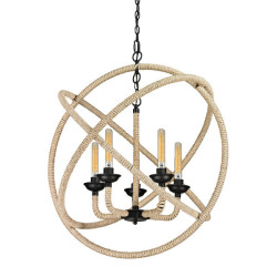 Jainsons Emporio Vintage Pearce 5 Light Rope Hanging Light