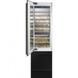 Smeg Built In Wine Cooler With No Frost Multizone Freezer, Electronic Control, Touch Display