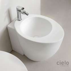 Cielo Back to Wall Bidet Colored Talco Back to wall bidet colored Talco