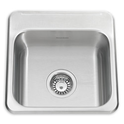 ADA Single Bowl 15 Inch 18 Gauge Kitchen Sink