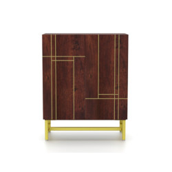 SNG Solid Wood Designer Yellow touch Bar Cabinet India