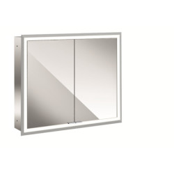 Emco  Mirror Cabinet Prime, 800 Mm, 2 Doors, Built-In Version, IP 20 mirror cabinet