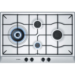Bosch  Integrated Control Stainless Steel Gas Hob 75 cm 75 cm Stainless steel Gas hob with integrated controls
