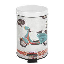 Wenko Cosmetic Pedal Bin Vintage Scooter