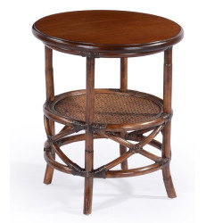 Abaca  Indiv End Table Rattan Rnd Brown SKUKEINDIV114