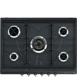 Smeg 70/75cm, Gas Hob, Coloniale, Anthracite Hob, 70/75 Cm, Gas, Coloniale, Anthracite
