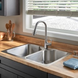 American Standard Tulsa 33x22 Stainless Steel Kitchen Sink Kit
