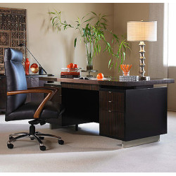 Century Furniture Seven Drawer Desk With Black Leather Top N3E-701-1