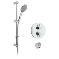 Vado Celsius Single Outlet Thermostatic Shower Package With 4 Function Slide Rail Shower Kit