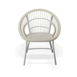 Abaca  All Weather Polyrod Coco Chair In White