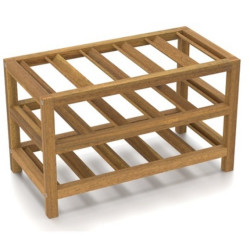 SNG Solid Wood Countertop Wine Rack India