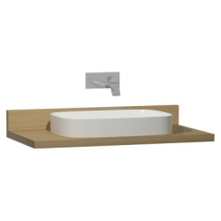 Vitra Memoria Black Counter, 100 cm, Waved Oak
