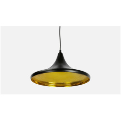 91 Degree Hanging Black and Golden Lamp image 1