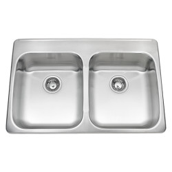 ADA Double Bowl 33 Inch 18 Gauge Kitchen Sink